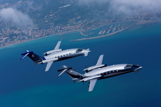 Piaggio P 180 Avanti Light Aircraft Background for Android, iPhone and iPad