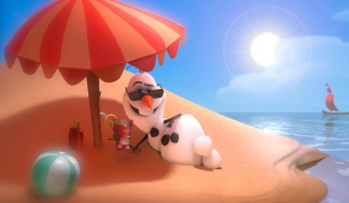 Disney Frozen Olaf Summer Holidays Background for Android, iPhone and iPad