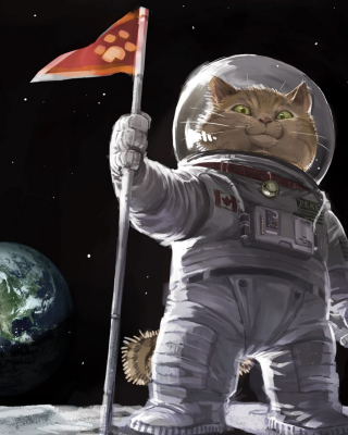 Cat Space Invader Background for 240x320