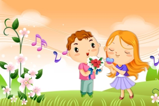 Cute Couple Background for Android, iPhone and iPad