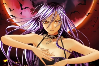 Rosario plus Vampire Wallpaper for Blackberry RIM Bold 9000