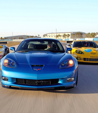 Corvette Racing Cars Background for Nokia C6