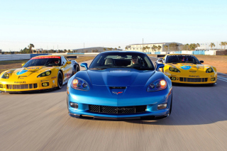 Free Corvette Racing Cars Picture for Android, iPhone and iPad