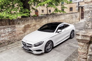 Mercedes Benz S Coupe Background for Android, iPhone and iPad