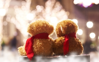 Christmas Teddy Picture for Android, iPhone and iPad