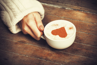 Heart Capuccino Picture for Android, iPhone and iPad