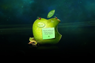 Funny Apple Logo Wallpaper for Android, iPhone and iPad