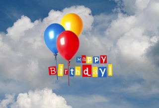 Happy Birthday Balloons Picture for Android, iPhone and iPad