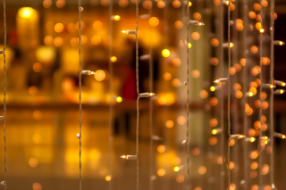 Christmas Garland Macro Photo - Fondos de pantalla gratis