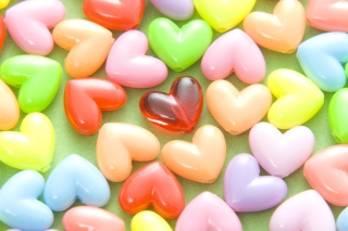 Colorful Hearts Background for Android, iPhone and iPad