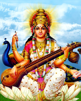 Saraswati Mantra Background for HTC Titan