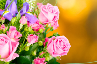 Spring bouquet of roses Wallpaper for Android, iPhone and iPad