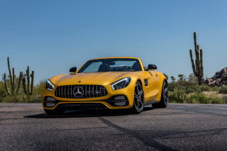 Mercedes AMG GT C Roadster sfondi gratuiti per cellulari Android, iPhone, iPad e desktop
