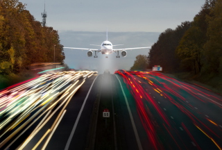 Airplane Landing sfondi gratuiti per cellulari Android, iPhone, iPad e desktop