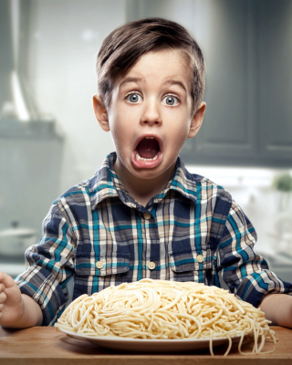 Child Dinner Wallpaper for Nokia Asha 306