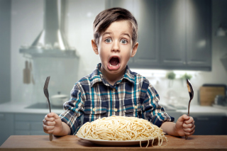 Child Dinner Wallpaper for 1080x960