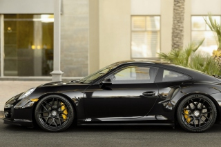 Free Porsche 911 Turbo Black Picture for Android, iPhone and iPad