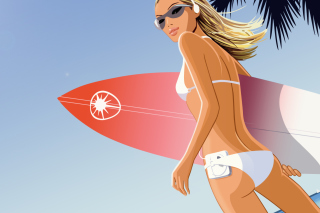 Free Surf Girl Picture for Android, iPhone and iPad