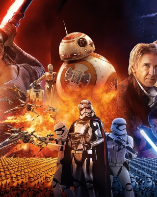 Free Star wars the Awakening forces Poster Picture for 240x320