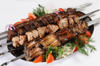 Georgian barbecue shashlik Wallpaper for Android 480x800