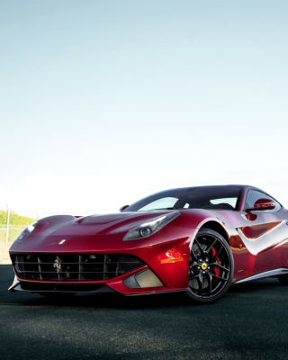 Ferrari F12 Red sfondi gratuiti per iPhone 6 Plus