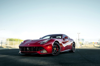 Ferrari F12 Red Background for Android, iPhone and iPad
