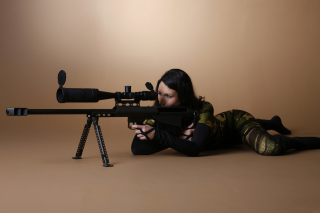 Army Girl in Costume Wallpaper for Android, iPhone and iPad