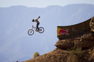 Red Bull Extreme Bicyclist Background for Android, iPhone and iPad