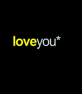 Love You Background for Nokia Asha 306