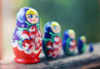 Russian Dolls Background for Android, iPhone and iPad