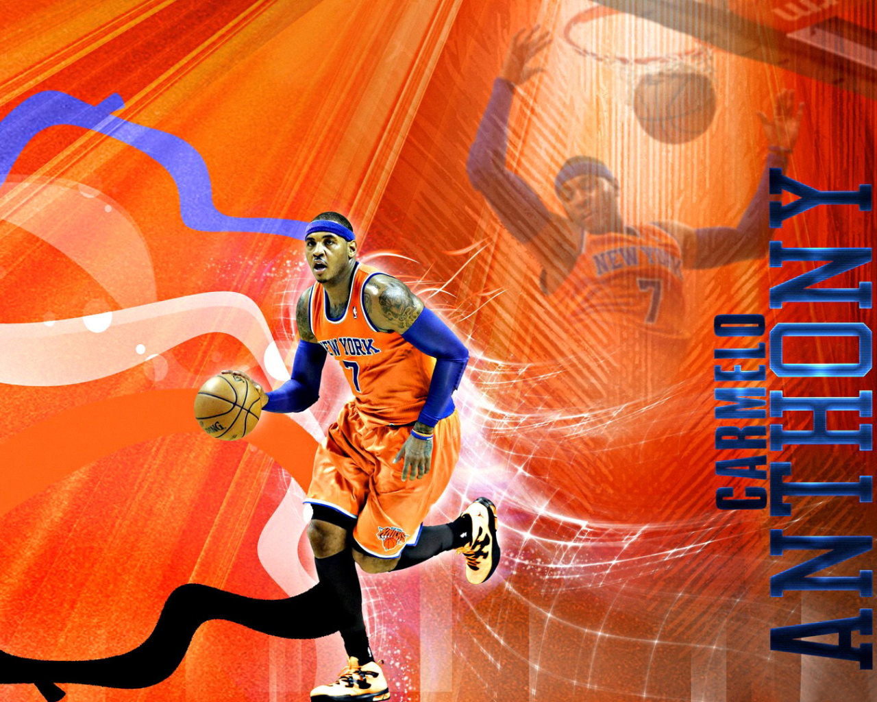 Screenshot №1 pro téma Carmelo Anthony NBA Player 1280x1024