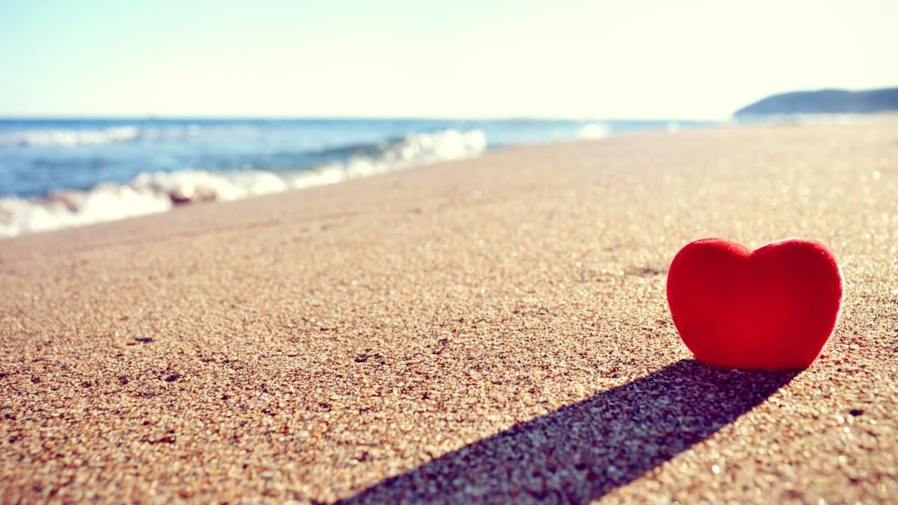 Heart Shadow On Sand