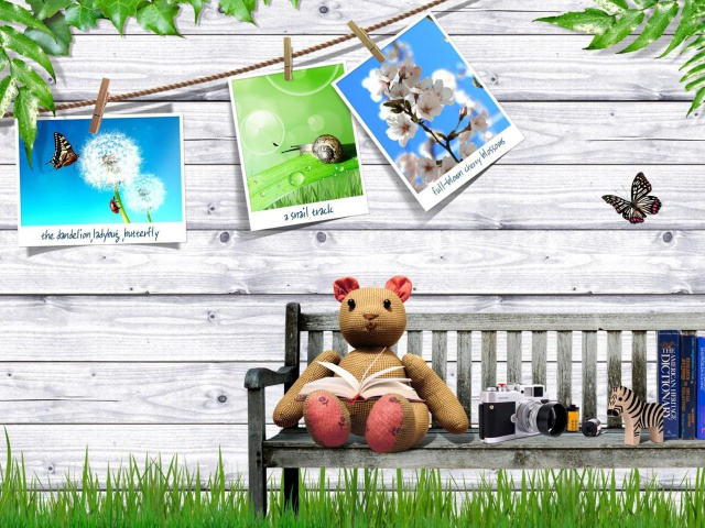 Das Clipart with Photos Wallpaper 640x480