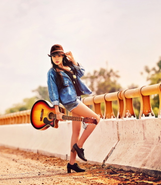 Girl With Guitar sfondi gratuiti per Nokia Lumia 800