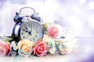 Alarm Clock with Roses Picture for Android, iPhone and iPad