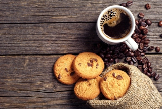 Perfect Morning Coffee With Cookies Wallpaper for Android, iPhone and iPad