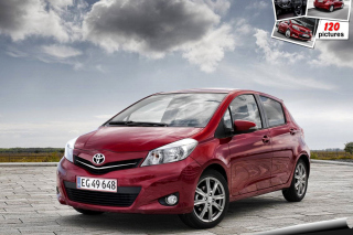 Toyota Yaris 2012 Background for Android, iPhone and iPad