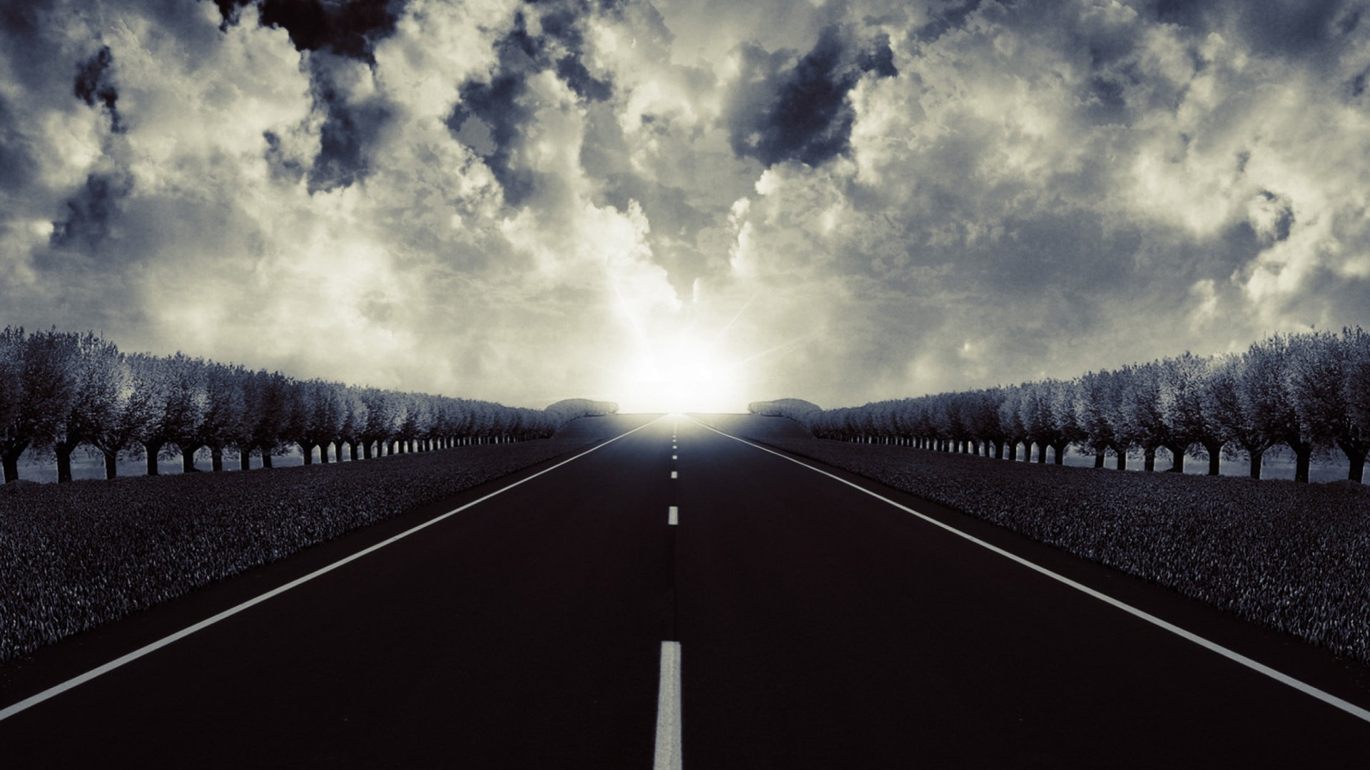 Road to sun sfondi gratuiti per desktop full hd