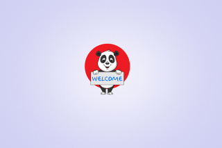 Welcome Panda Background for Widescreen Desktop PC 1280x800