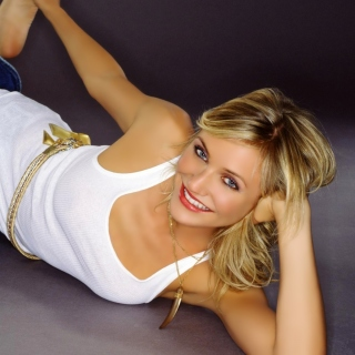 Cameron Diaz in Jeans Background for iPad 3