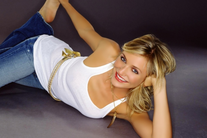 Обои Cameron Diaz in Jeans