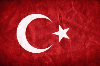 Turkey Flag Background for 2560x1600
