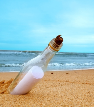 Kostenloses Message In Bottle Wallpaper für Nokia Asha 308