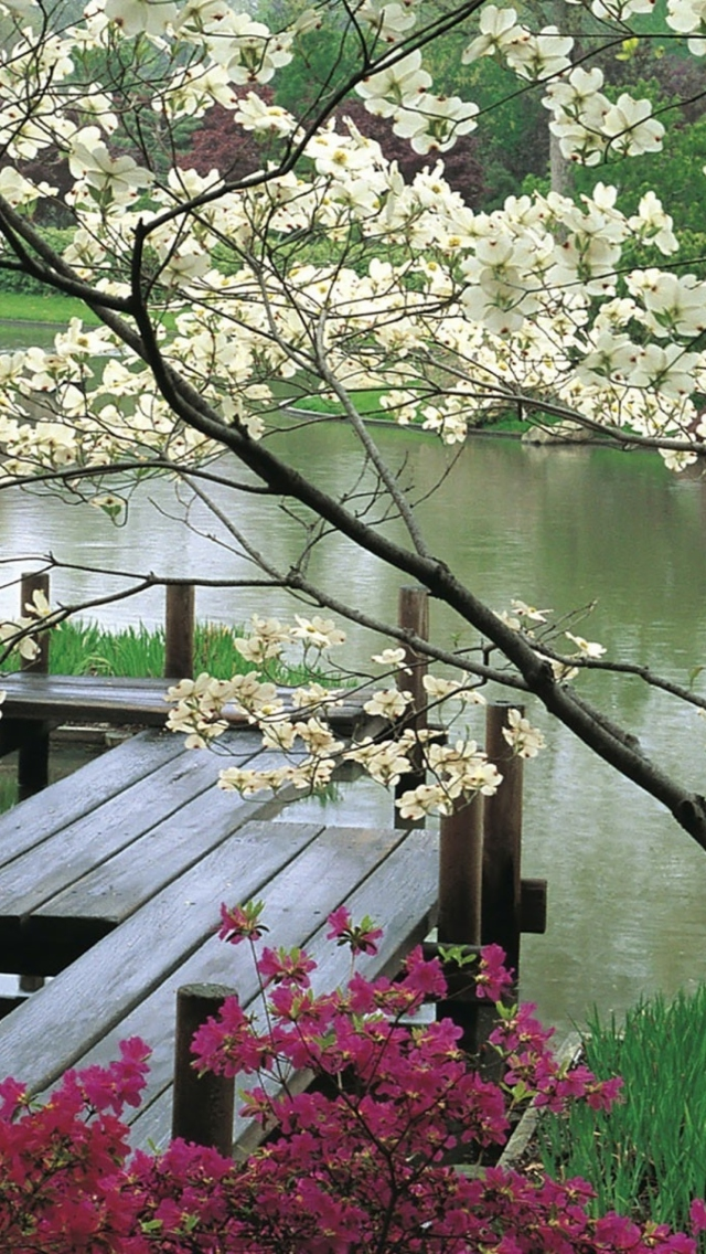 Screenshot №1 pro téma Japanese Garden And Lake 640x1136