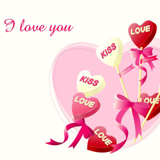 I Love You Balloons and Hearts sfondi gratuiti per iPad mini