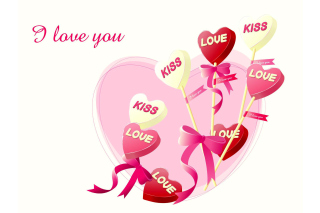 Free I Love You Balloons and Hearts Picture for Android, iPhone and iPad