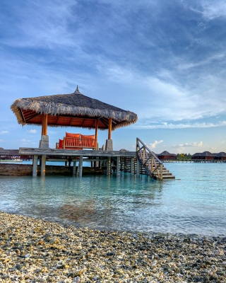 Tropical Maldives Resort good Destination Wallpaper for Nokia C1-01
