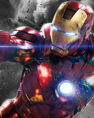 Iron Man - The Avengers 2012 Background for Nokia Asha 305
