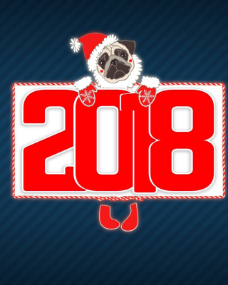 2018 New Year Chinese horoscope year of the Dog - Obrázkek zdarma pro Nokia Asha 305