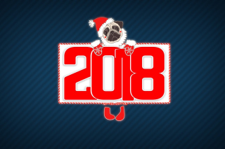 2018 New Year Chinese horoscope year of the Dog Background for Android, iPhone and iPad